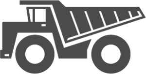 Icon of a dump truck